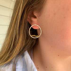 Silver Dollar Hammered Hoops