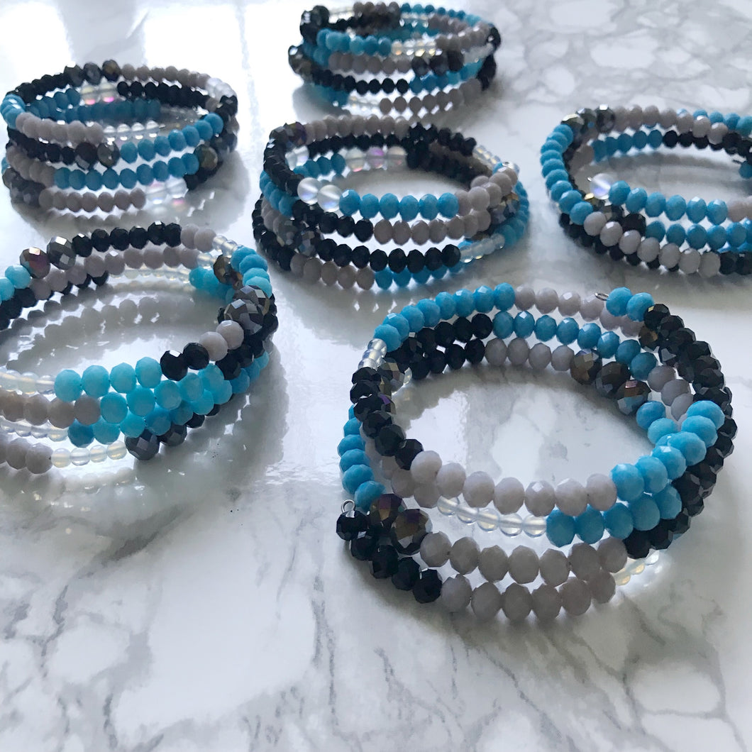 Carolina Panthers Wrap Bracelet
