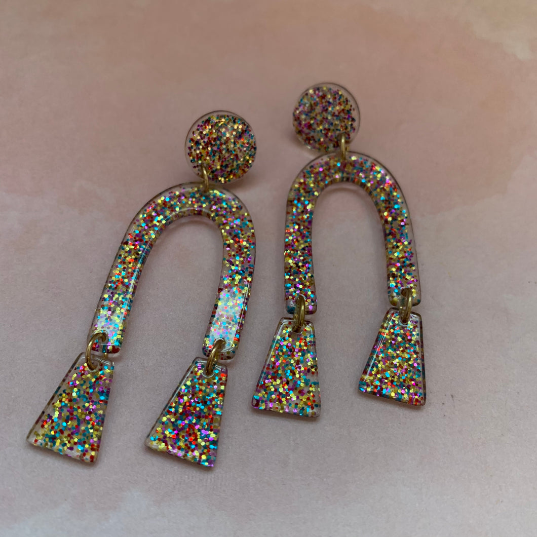 Funfetti Glitter Earrings