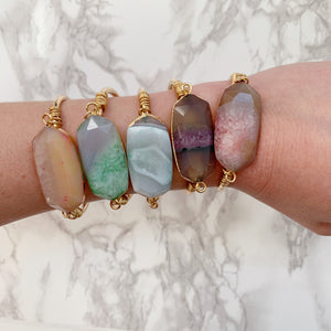 Mixed Agate Cuff
