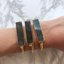 Load image into Gallery viewer, Labradorite Bar Cuff