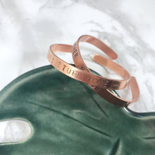 Load image into Gallery viewer, Custom Stamped Bangle