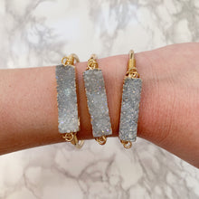 Load image into Gallery viewer, Druzy Bar Cuff