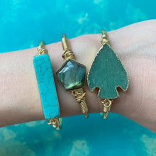 Load image into Gallery viewer, Turquoise Bar Cuff
