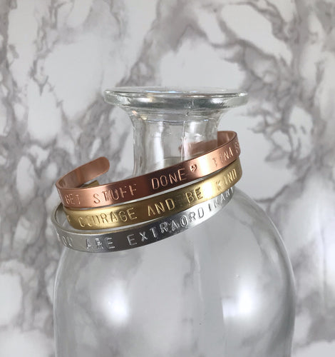 Custom Stamped Bangle
