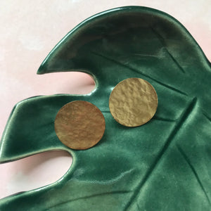 Hammered Disk Earrings