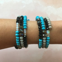 Load image into Gallery viewer, Carolina Panthers Wrap Bracelet