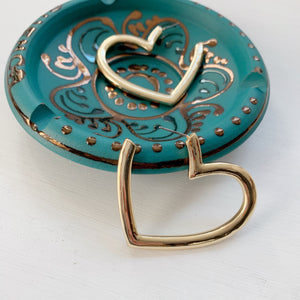 Love Drunk Heart Hoops