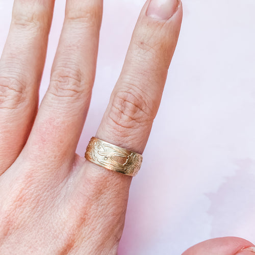 Goddess Wide Band Statement Ring