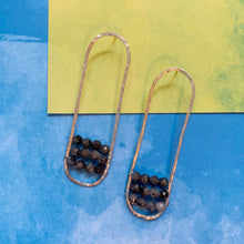 Load image into Gallery viewer, Labradorite Wrap Hoops
