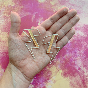 Bowie Lightening Bolt Earrings