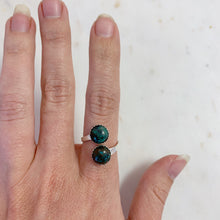Load image into Gallery viewer, Silver Turquoise Adjustable Ring