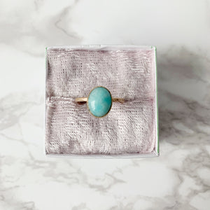 Gold Amazonite Ring size 8