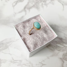 Load image into Gallery viewer, Gold Amazonite Ring size 8