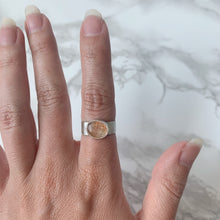 Load image into Gallery viewer, Glittery Sunstone Ring size 6.5