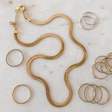 Load image into Gallery viewer, Stunna Liquid Gold 18k Gold Fill Snake Chain Necklace