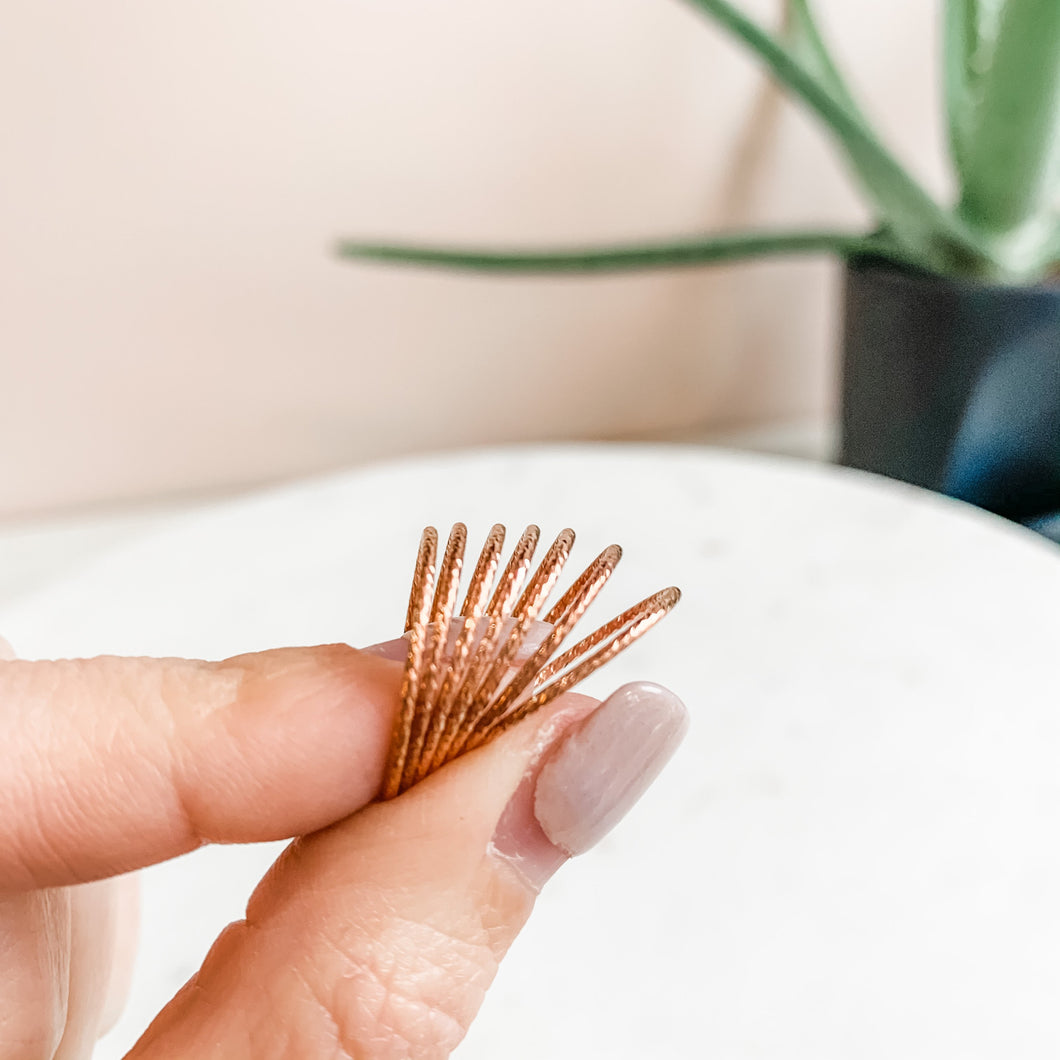 Rose Gold Sparkle Stacking Ring
