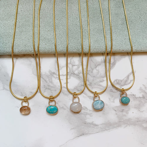 Gemstone Gold Fill Dainty