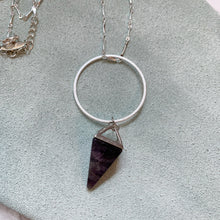 Load image into Gallery viewer, Space Cowboy Amethyst Long Dainty Necklace