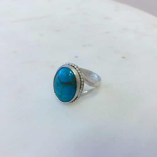 Large Arizona Turquoise Statement Ring size 9