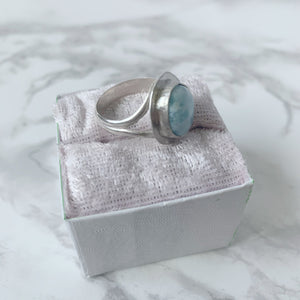 Larimer Halo Ring in Sterling Silver size 8 - The Catalyst Mercantile