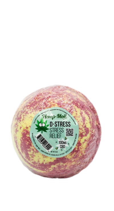 Hemp-Moji D-Stress Bath Bomb 100mg CBD