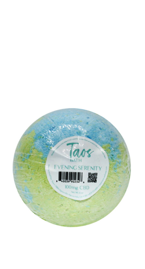 Taos Evening Serenity Bath Bomb 100mg CBD