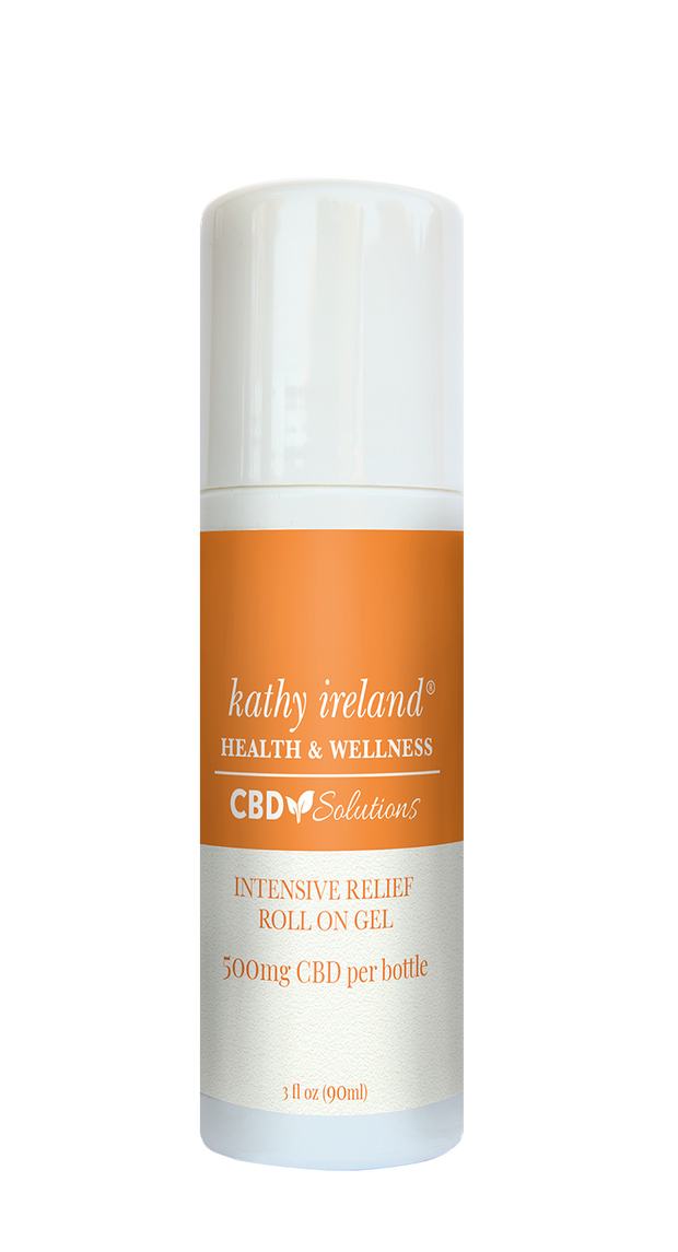 kathy ireland HEALTH & WELLNESS CBD Solutions Intensive Relief Roll On Gel 500mg CBD