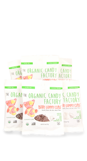 Organic Candy Factory Berry Gummy Cubs -   6 pack of 2.5 oz Bags