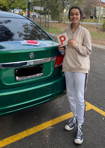 After a few lessons with QSM, Tiahna aced her test in her own car!