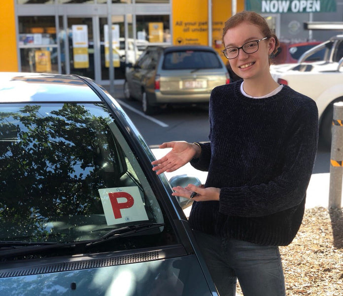 Indi is out and about in her car, thanks to an impressive test pass!