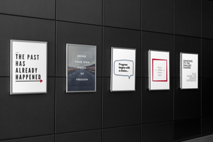 office prints can motivate and inspire employees to be more engaged and optimistic.  Leadership requires daily reminders to ensure it remains a top priority for all business leaders, supervisors and managers.
