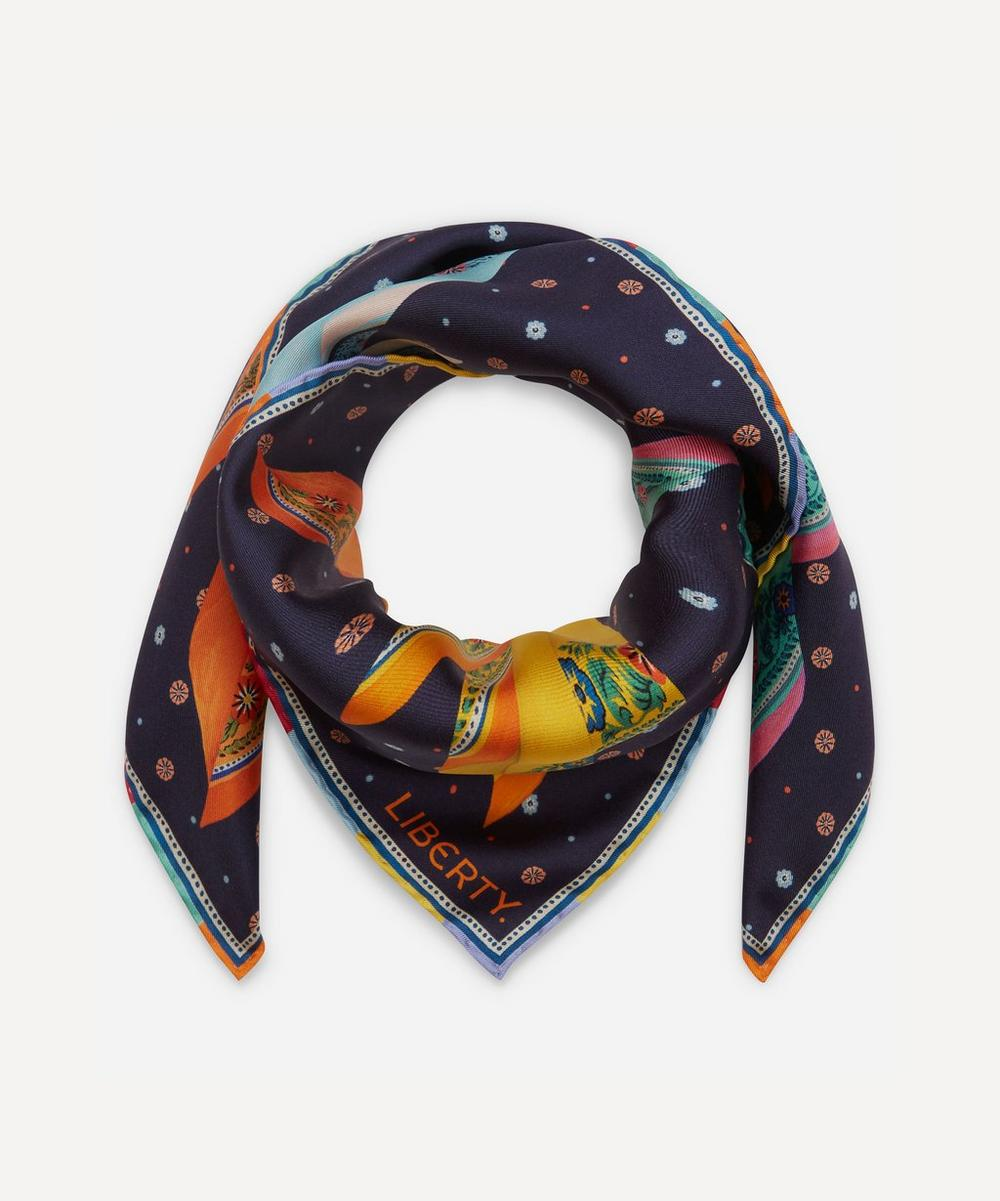 Liberty London Natalie 70 x 70cm Silk Twill Scarf