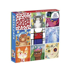 Artsy Cats 500-Piece Jigsaw Puzzle