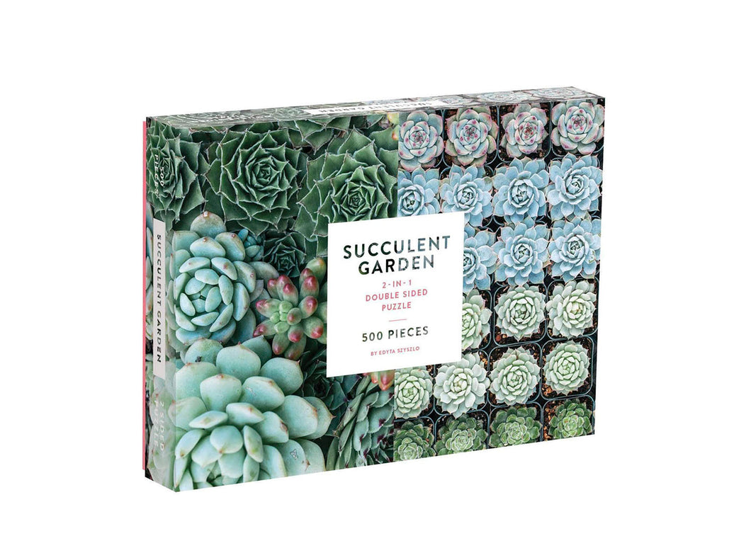 Succulent Garden Double Sided 500 Piece Jigsaw Puzzle