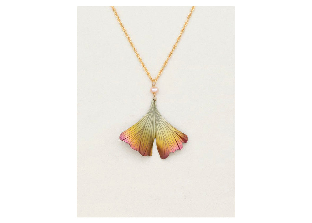 Ginkgo Pendant Necklace