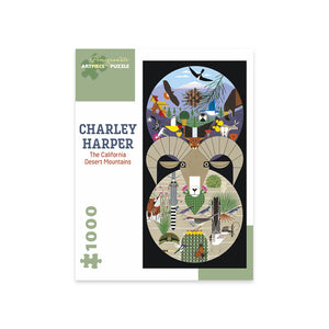 Charley Harper: California Desert Mountains 1000-Piece Jigsaw Puzzle
