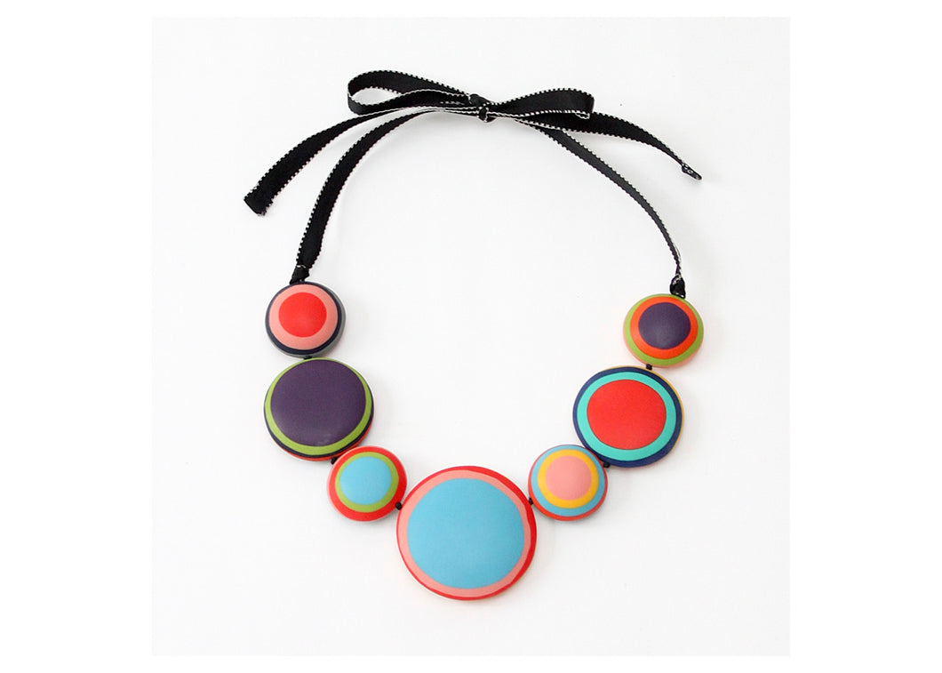 Multicolor Cat-Eye Helena Necklace