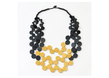 Load image into Gallery viewer, Mustard and Black Lauren Necklace