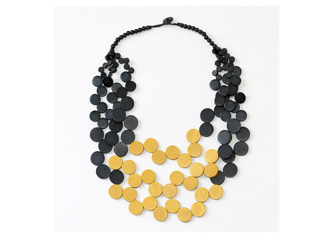 Mustard and Black Lauren Necklace