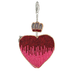 Have a Heart Beaded Coin Purse or Key Fob