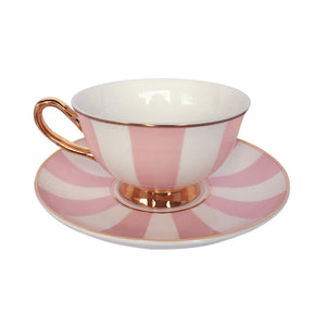 Striped Teacup & Saucer