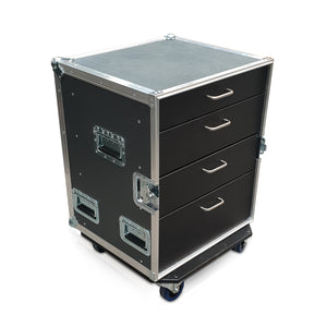 Livesound - PD4 - 4 Drawer Production Case With Wheels