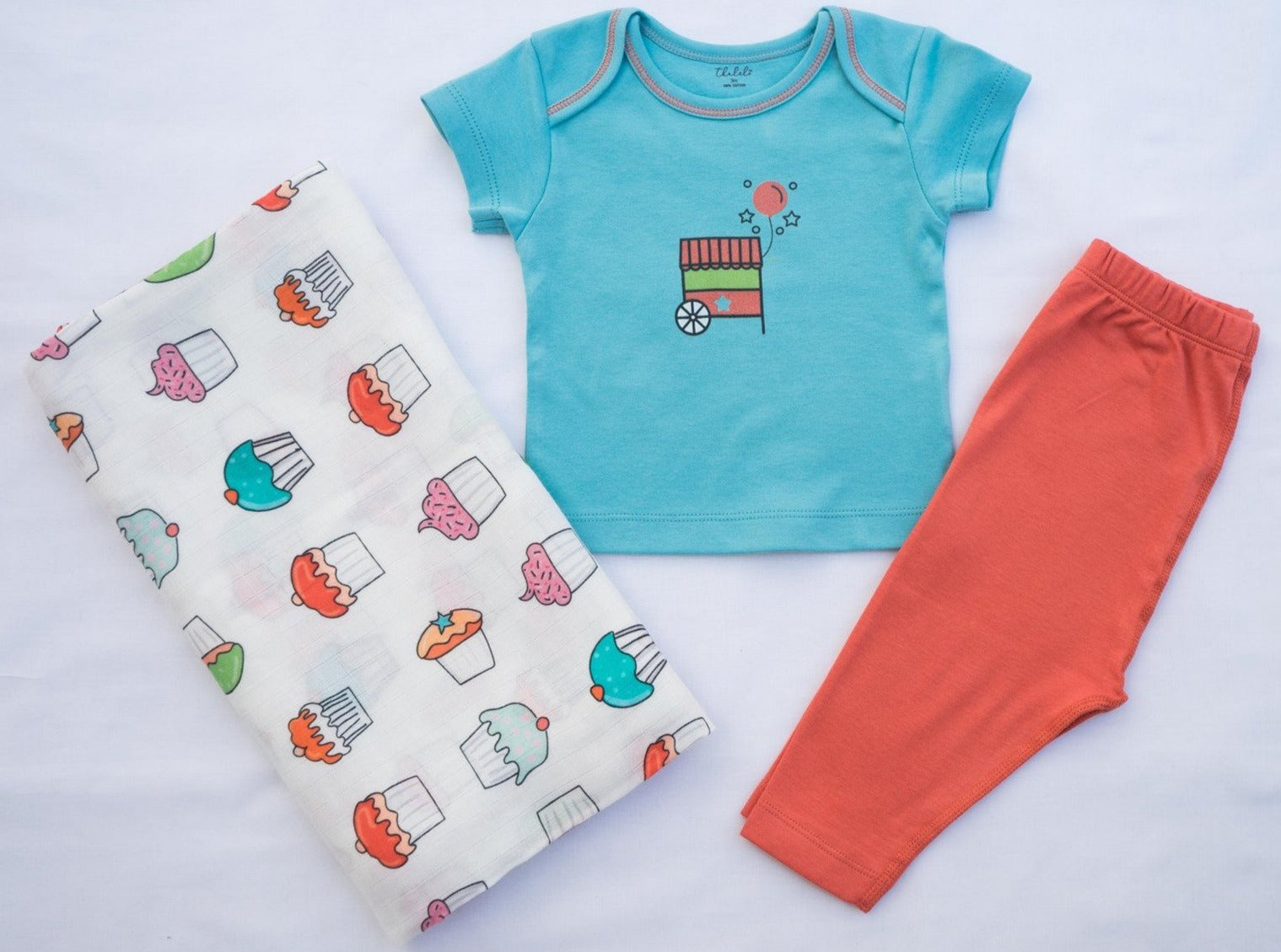 Cupcake Swaddle + T-shirt and Pant