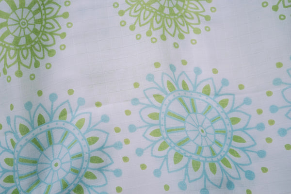 "Mandala Aqua Muslin Swaddles (Set of 2; 43""x43"")"