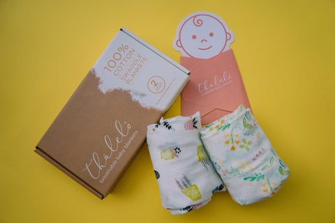 Thālelo Garden, Set of 2 Muslin Swaddles