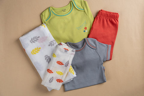 Baby Essentials Set- Leaves