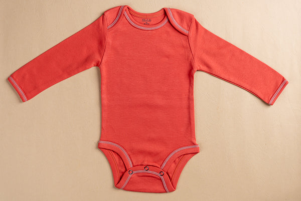 Newborn Onesie; Full Sleeve; Brick Red