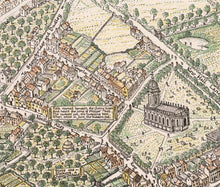Load image into Gallery viewer, A picture map of Birmingham in 1730 by Bernard Sleigh