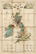 Load image into Gallery viewer, Large Old Map of UK - British Isles, England, Scotland, Wales, Ireland - up to 4m/13ft  - 1611, 1854 - Vintage Wall Art - Framed or Unframed